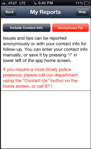 Anonymous Tips to Tampa Police Department