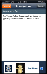 Tampa Police Anonymous Tip