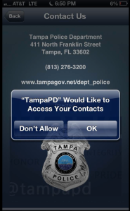 Tampa Police Department Wants to Access Your Clients