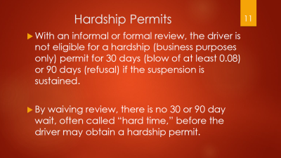 11-hardship-permits-after-30-or-90-days-after-informal-or-formal-review-hearing