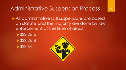 6-administrative-dui-suspensions-based-on-statute-majority-done-by-law-enforcement