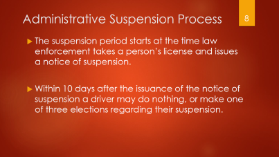 8-admin-suspension-process-starts-when-officer-takes-license-within-10-days-do-nothing-or-do-1-of-3-elections